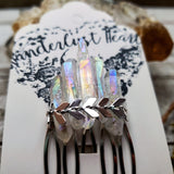 Aura quartz chevron hair comb