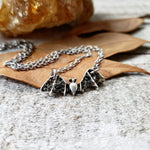 Obsidian Bat necklace