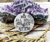 Cool cats and kittens necklace