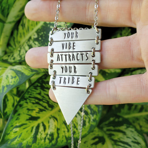 Your vibe attracts your tribe Cascade necklace