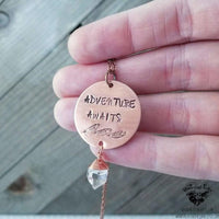 Adventure Awaits necklace-Wanderlust Hearts