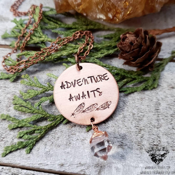Adventure Awaits necklace