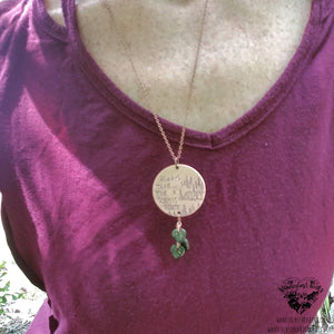 Always take the scenic route Stamped necklace-Wanderlust Hearts