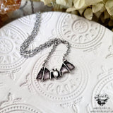 Amethyst Bat necklace-Wanderlust Hearts