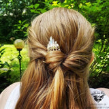 Aura quartz crystal hair comb-Wanderlust Hearts