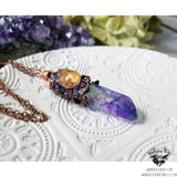 Aura quartz crystal necklace-Wanderlust Hearts