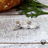 Aura Quartz crystal stud earrings-Wanderlust Hearts