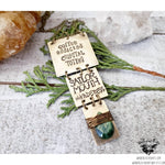 Boho brass stamped necklace-Wanderlust Hearts