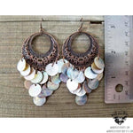 Boho goddess shell earrings-Wanderlust Hearts