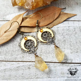 Boho Horn moon earrings-Wanderlust Hearts