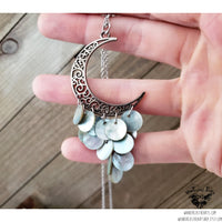 Boho moon cascade necklace-Wanderlust Hearts