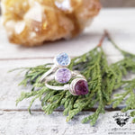 Boho stacking ring set | Shades of Lilac-Wanderlust Hearts
