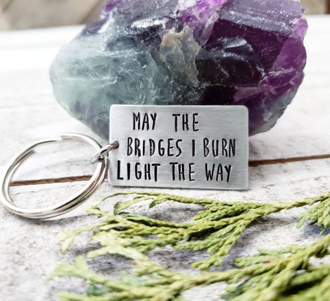 Burning bridges Keychain
