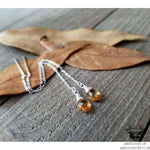 Citrine sterling threader earrings-Wanderlust Hearts