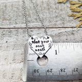Shut your cunt mouth necklace