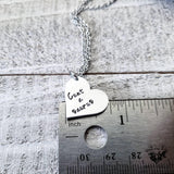 Cuntasaurus stamped heart necklace-Wanderlust Hearts