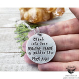 Douche Canoe stamped necklace