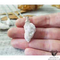 Druzy crystal necklace-Wanderlust Hearts