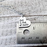 Eat a bag of Dicks necklace-Wanderlust Hearts