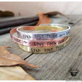 Find your tribe - love them hard Cuff bracelet-Wanderlust Hearts