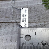 Fuck what they think stamped necklace