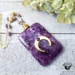 Galaxy Moon necklace-Wanderlust Hearts