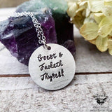 Goeth and fucketh thyself necklace-Wanderlust Hearts