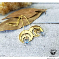 Horn Moon threader earrings-Wanderlust Hearts