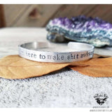 I'm here to make shit awkward cuff bracelet-Wanderlust Hearts