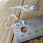 Labradorite Threader earrings | .925 Sterling silver-Wanderlust Hearts