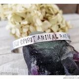 My spirit animal has rabies cuff bracelet-Wanderlust Hearts