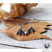 Obsidian Bat necklace-Wanderlust Hearts