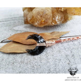 Obsidian moon hair pin-Wanderlust Hearts