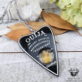 Ouija planchette necklace-Wanderlust Hearts