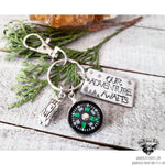 Our Adventure awaits keychain-Wanderlust Hearts