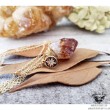 Raw Citrine necklace | North star charm-Wanderlust Hearts