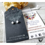 Raw Druzy crystal stud earrings-Wanderlust Hearts