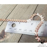 Rose gold Chevron choker-Wanderlust Hearts