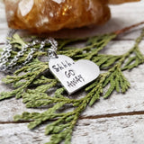 Shhh Go away necklace