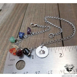 Silver chakra anklet-Wanderlust Hearts
