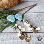 Sugar skull duster earrings-Wanderlust Hearts