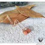 Sunstone rose gold threader earrings-Wanderlust Hearts