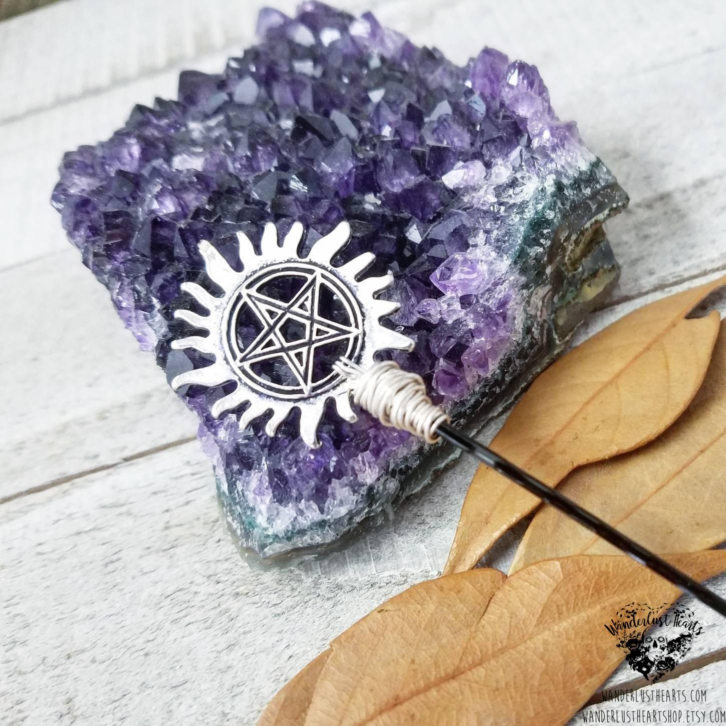 Supernatural anti possession hair pin-Wanderlust Hearts