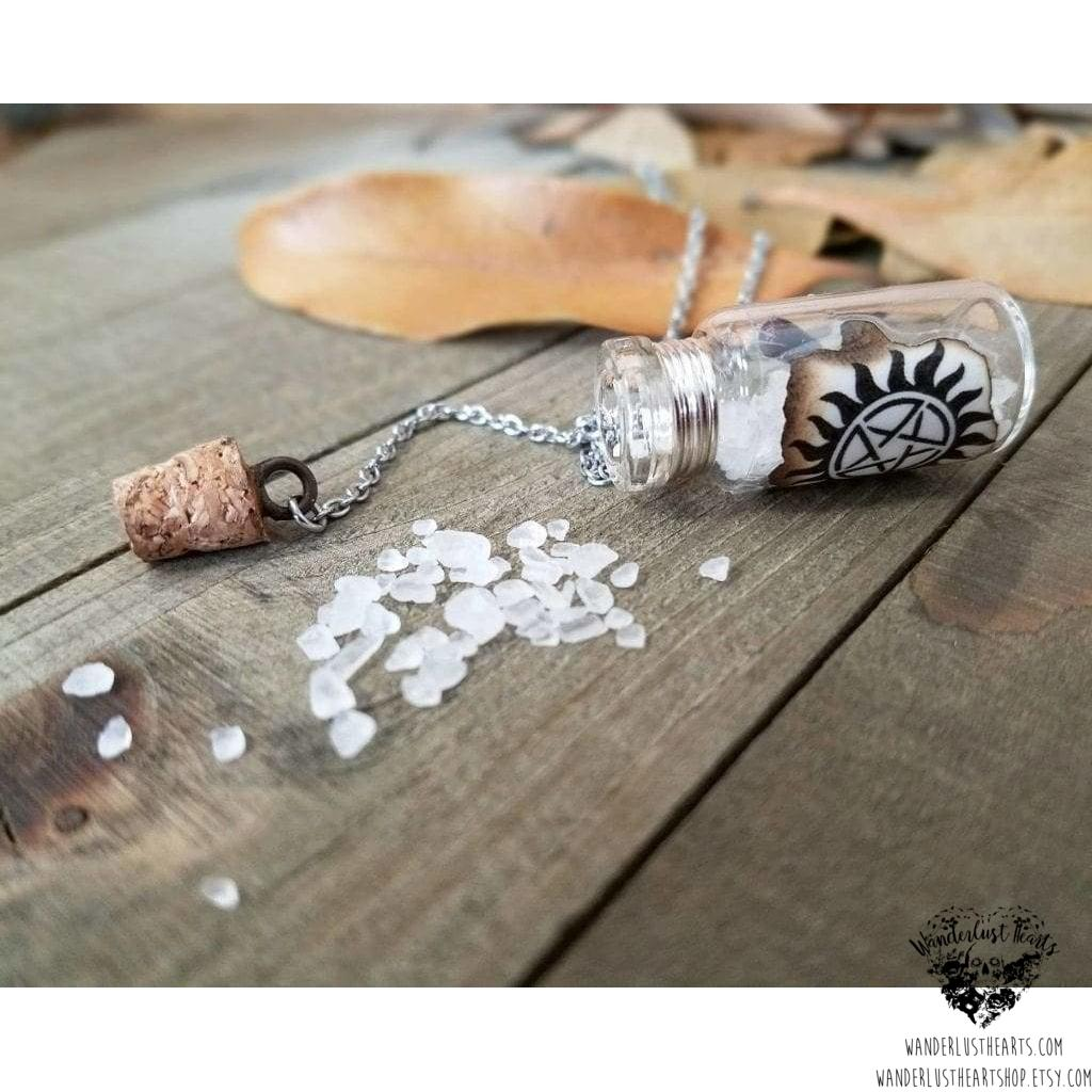 Supernatural anti possession salt vial necklace-Wanderlust Hearts