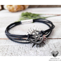 Supernatural anti-possession sigil leather bracelet-Wanderlust Hearts
