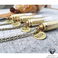 Supernatural rock salt bullet necklace-Wanderlust Hearts