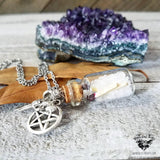 Supernatural Salt & Burn vial necklace-Wanderlust Hearts
