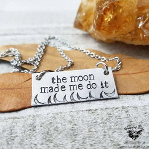 The moon made me do it Necklace-Wanderlust Hearts