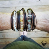 Water Sapphire leather bracelet-Wanderlust Hearts