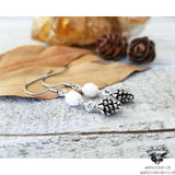 Winter Pinecone earrings-Wanderlust Hearts